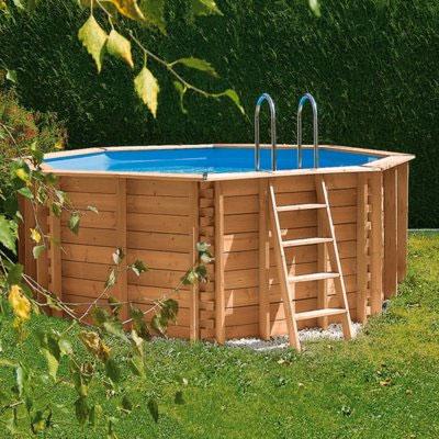 Polyester zwembaden ook bij cornerstone for Houten zwembad bouwen